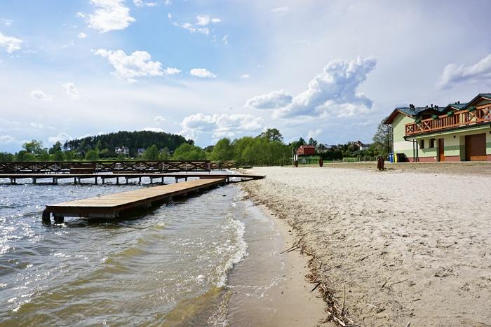 Plaża i marina w Gowidlinie